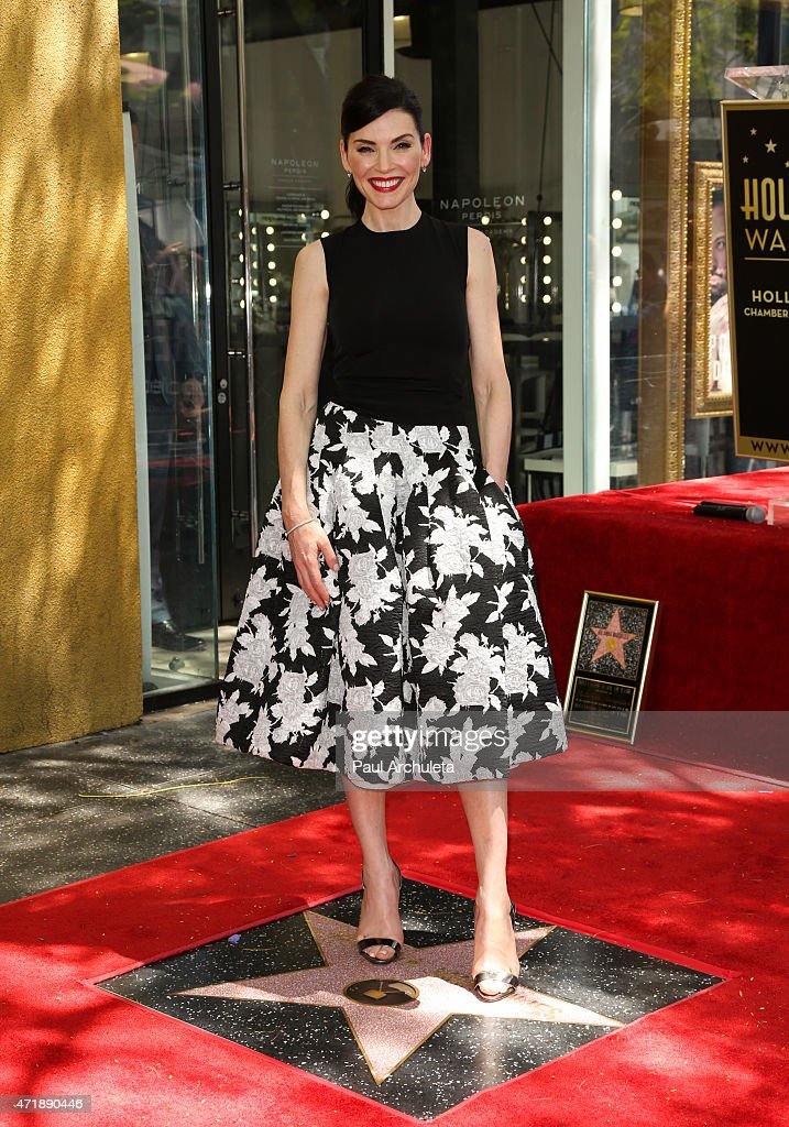 Julianna Margulies Honored On The Hollywood Walk Of Fame