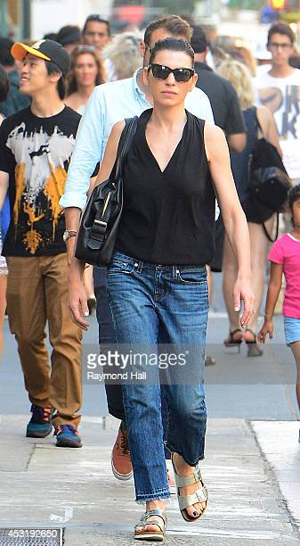 Actress Julianna Margulies is seen walking in Soho on August 4 2014 in New York City