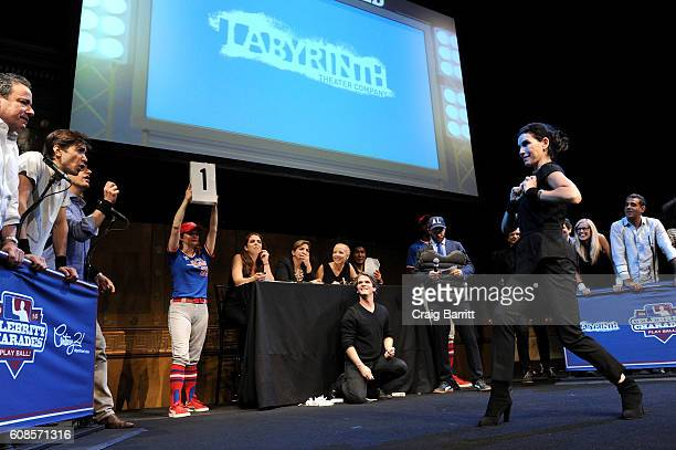 Actress Julianna Margulies performs onstage at the Labyrinth Theater Company's Celebrity Charades Gala 2016 at Capitale on September 19 2016 in New...