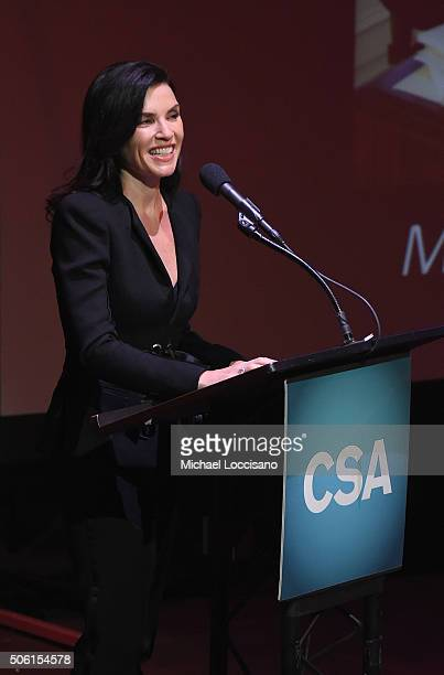 Actress Julianna Margulies presents during the 31st Annual Artios Awards at Hard Rock Cafe Times Square on January 21 2016 in New York City