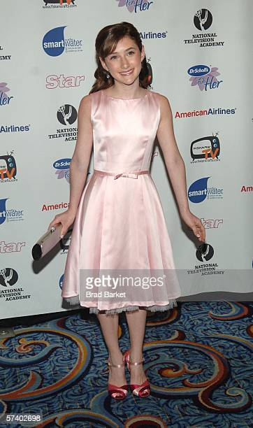 Actress Julianna Rose Mauriella arrives to the Creative Arts Daytime Emmy Awards at the Marriot Marquis Hotel on April 22 2006 in New York City