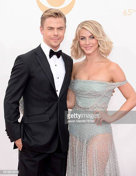 Actress Julianne Hough and brother Derek Hough arrive at the 65th Annual Primetime Emmy Awards held at Nokia Theatre LA Live on September 22 2013 in...