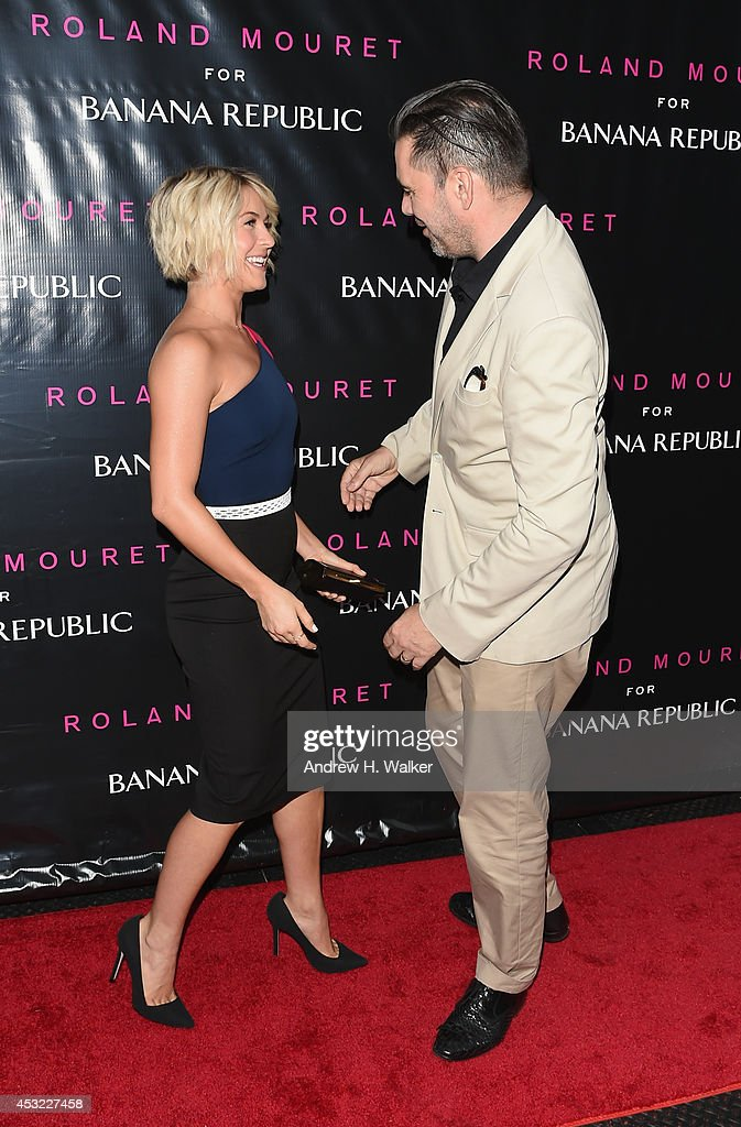 Actress Julianne Hough and Designer Roland Mouret attend the Roland Mouret for Banana Republic Collection Launch on August 5, 2014 at White Street Restaurant in New York City.