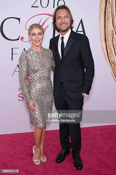 Actress Julianne Hough and Lance LePer attend the 2016 CFDA Fashion Awards at the Hammerstein Ballroom on June 6 2016 in New York City