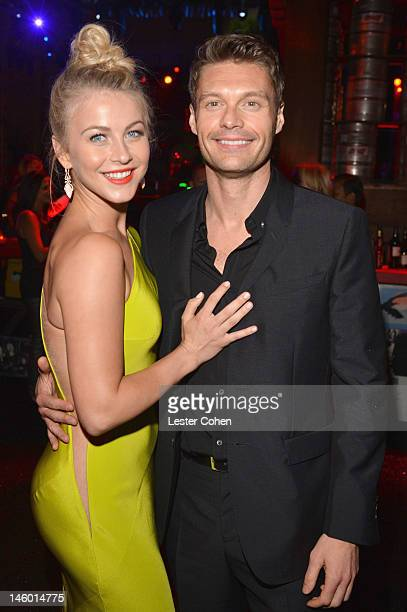 """Actress Julianne Hough and Media Personality Ryan Seacrest attend the """"Rock Of Ages"""" Los Angeles premiere after party held at Grauman's Chinese..."""