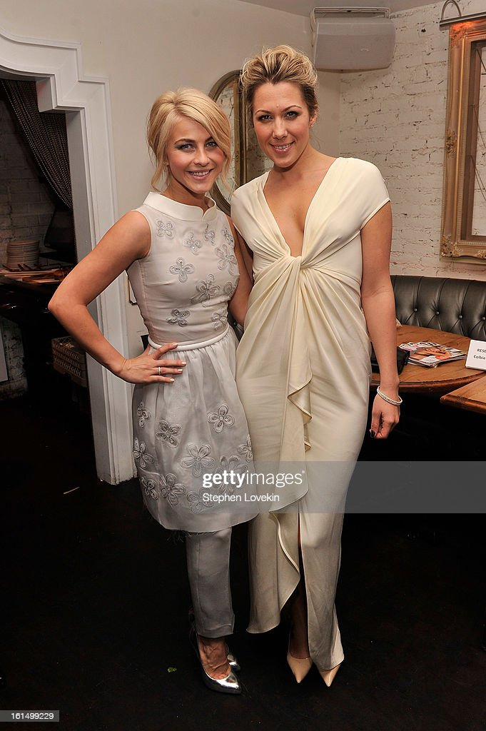 Actress Julianne Hough (L) and musician Colbie Caillat attend the after-party for SELF Magazine and Relativity Media's special New York screening of 'Safe Haven' at Beauty and Essex on February 11, 2013 in New York City.