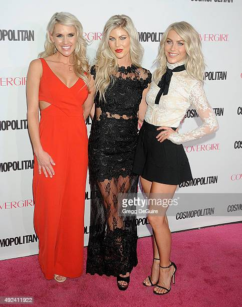 Actress Julianne Hough and sisters Sharee Hough and Marabeth Hough arrive at Cosmopolitan Magazine's 50th Birthday Celebration at Ysabel on October...