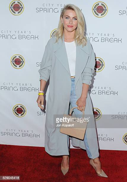 Actress Julianne Hough arrives at City Year Los Angeles' Spring Break Destination Education at Sony Pictures Studios on May 7 2016 in Culver City...