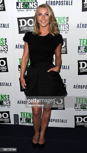 Actress Julianne Hough arrives at DoSomethingorg And Aeropostale Inc 5th Annual Teens For Jeans Campaign KickOff at Palihouse Holloway on January 10...