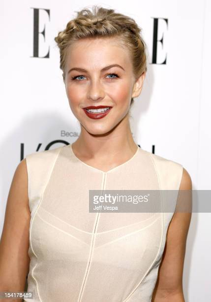 Actress Julianne Hough arrives at ELLE's 19th Annual Women In Hollywood Celebration at the Four Seasons Hotel on October 15 2012 in Beverly Hills...