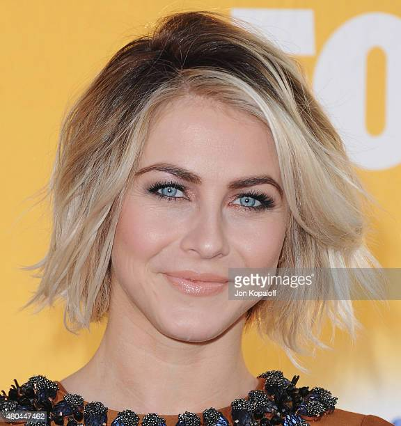 Actress Julianne Hough arrives at FOX's Cause For Paws An AllStar Dog Spectacular at The Barker Hanger on November 22 2014 in Santa Monica California