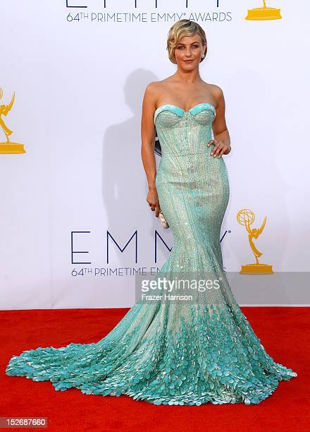 Actress Julianne Hough arrives at the 64th Annual Primetime Emmy Awards at Nokia Theatre LA Live on September 23 2012 in Los Angeles California