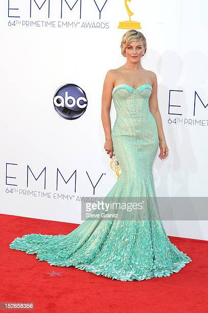 Actress Julianne Hough arrives at the 64th Primetime Emmy Awards at Nokia Theatre LA Live on September 23 2012 in Los Angeles California