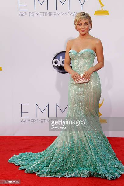 Actress Julianne Hough arrives at the 64th Primetime Emmy Awards at Nokia Theatre L.A. Live on September 23, 2012 in Los Angeles, California.
