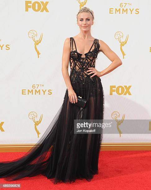 Actress Julianne Hough arrives at the 67th Annual Primetime Emmy Awards at Microsoft Theater on September 20 2015 in Los Angeles California