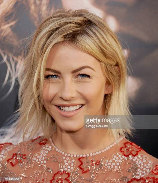 """Actress Julianne Hough arrives at the Los Angeles premiere of """"The Mortal Instruments: City Of Bones"""" at ArcLight Cinemas Cinerama Dome on August 12,..."""