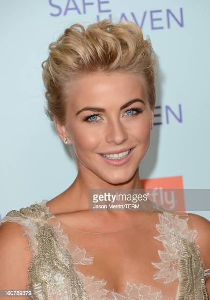 Actress Julianne Hough arrives at the premiere of Relativity Media's 'Safe Haven' at TCL Chinese Theatre on February 5 2013 in Hollywood California