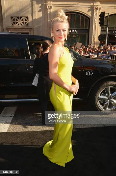 Actress Julianne Hough arrives at the Rock of Ages Los Angeles premiere held at Grauman's Chinese Theatre on June 8 2012 in Hollywood California