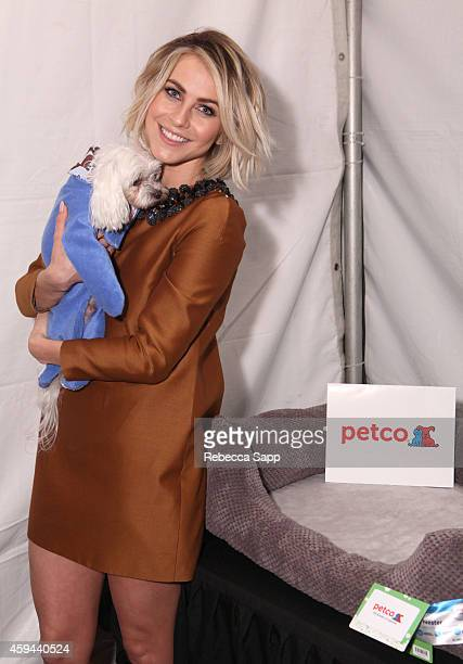 Actress Julianne Hough attends Backstage Creations Treat Suite at Fox's Cause For Paws An AllStar Dog Special at Barker Hangar on November 22 2014 in...