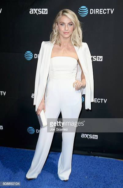 Actress Julianne Hough attends DirecTV Super Saturday Night Cohosted by Mark Cuban's AXS TV at Pier 70 on February 6 2016 in San Francisco California