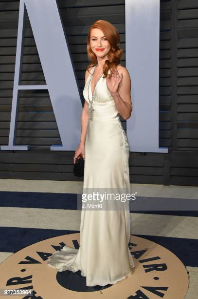 Actress Julianne Hough attends the 2018 Vanity Fair Oscar Party hosted by Radhika Jones at the Wallis Annenberg Center for the Performing Arts on...