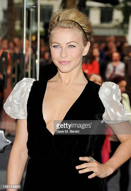 Actress Julianne Hough attends the European Premiere of 'Rock Of Ages' at Odeon Leicester Square on June 10 2012 in London England