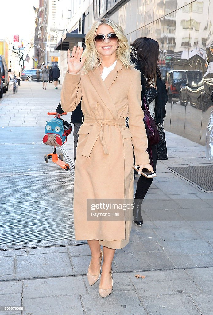 Actress Julianne Hough is seen outside Fox in 'Midtown'on January 19, 2016 in New York City.