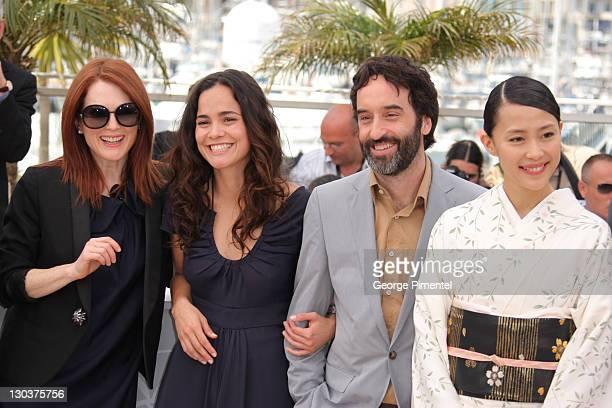 "Actress, Julianne Moore, Actress, Alice Braga, Actor, Don McKellar, and Actress Yoshino Kimura attend the ""Blindness"" photocall during the 2008..."
