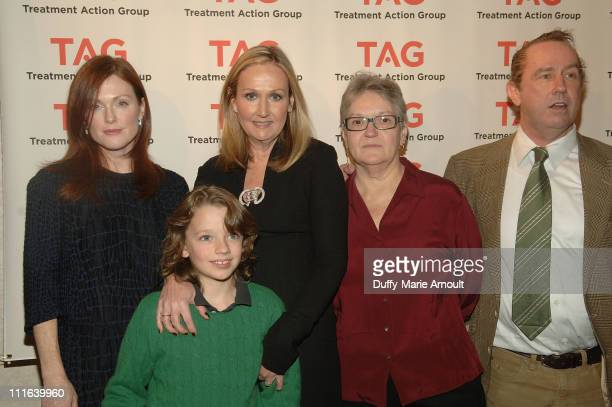 Actress Julianne Moore Alex Morrison Aids Activist Sally Morrison TAG Board of Directors President Barbara Hughes and TAG Executive Director Mark...