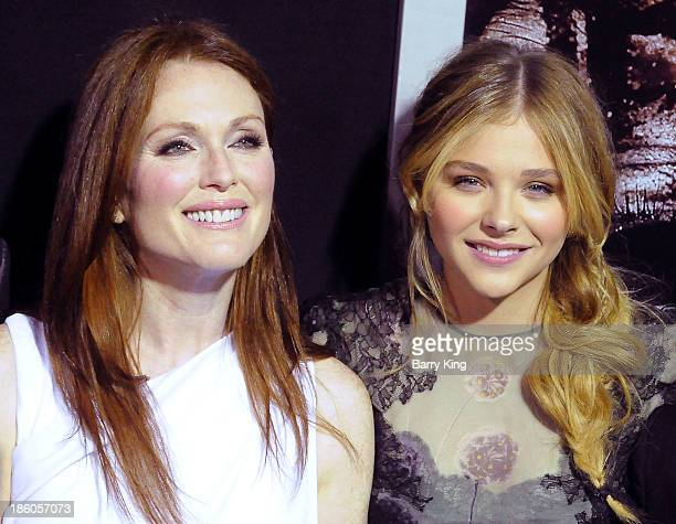 Actress Julianne Moore and actress Chloe Grace Moretz attend the premiere of 'Carrie' on October 7 2013 at ArcLight Hollywood in Hollywood California