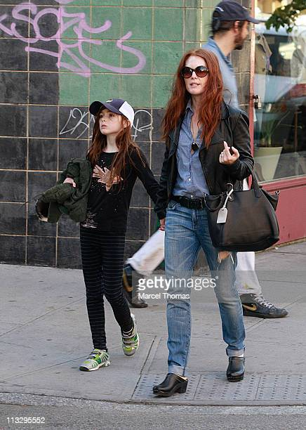 Actress Julianne Moore and daughter Liv Freundlich are seen on the streets of Manhattan on April 30 2011 in New York City