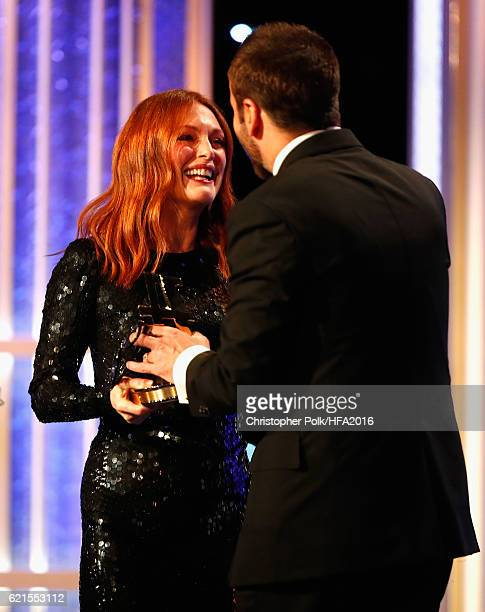 Actress Julianne Moore and designer Tom Ford attend the 20th Annual Hollywood Film Awards at The Beverly Hilton Hotel on November 6 2016 in Beverly...