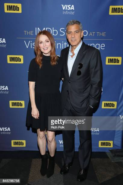 Actress Julianne Moore and director George Clooney of 'Suburbicon' attend The IMDb Studio Hosted By The Visa Infinite Lounge at The 2017 Toronto...