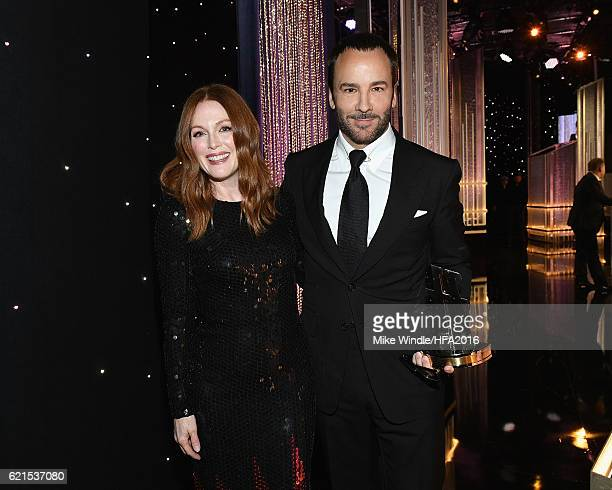 """Actress Julianne Moore and director Tom Ford, Hollywood Breakthrough Director Award recipient for """"Nocturnal Animals"""", attend the 20th Annual..."""