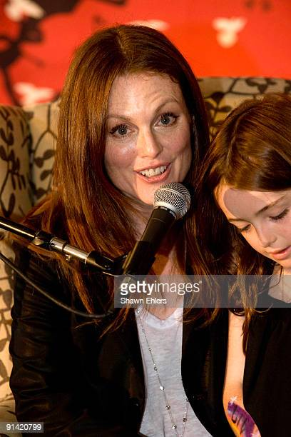 Actress Julianne Moore and her daughter Liv Freundlich attend Make It Matter Day in support of literacy and education at The New York Public Library...