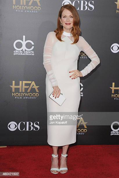 Actress Julianne Moore arrives at the 18th Annual Hollywood Film Awards at Hollywood Palladium on November 14, 2014 in Hollywood, California.