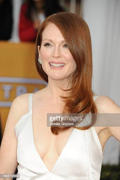 Actress Julianne Moore arrives at the 19th Annual Screen Actors Guild Awards held at The Shrine Auditorium on January 27 2013 in Los Angeles...