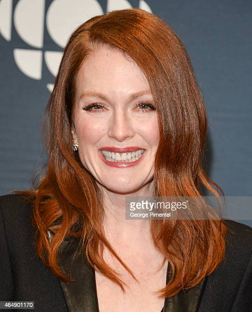 Actress Julianne Moore arrives at the 2015 Canadian Screen Awards at the Four Seasons Centre for the Performing Arts on March 1 2015 in Toronto Canada