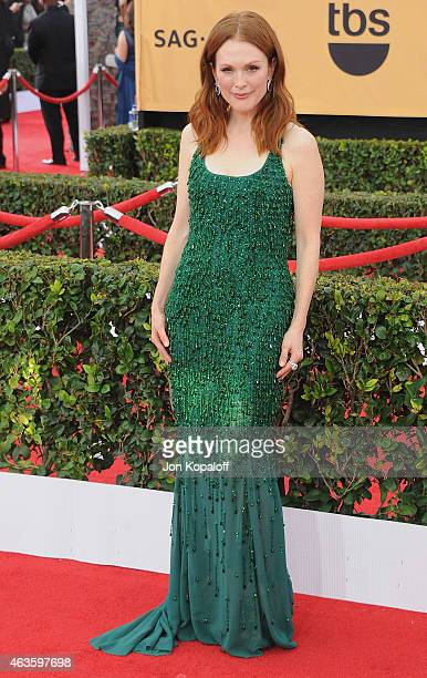 Actress Julianne Moore arrives at the 21st Annual Screen Actors Guild Awards at The Shrine Auditorium on January 25 2015 in Los Angeles California