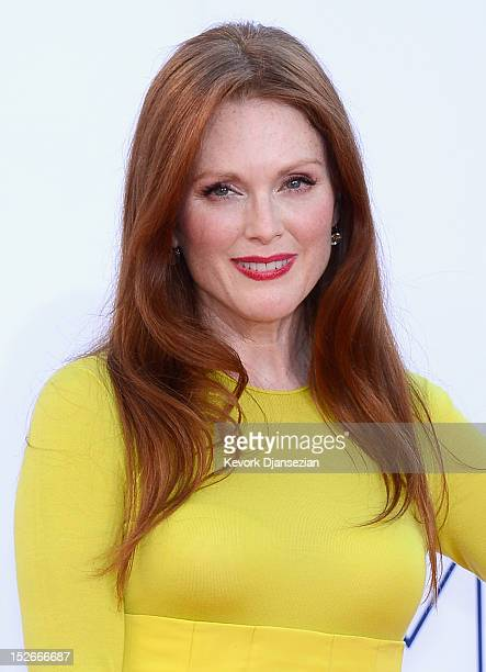 Actress Julianne Moore arrives at the 64th Annual Primetime Emmy Awards at Nokia Theatre LA Live on September 23 2012 in Los Angeles California