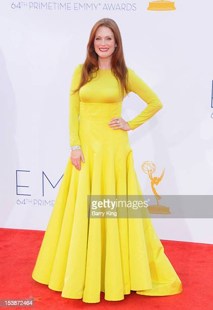 Actress Julianne Moore arrives at the 64th Primetime Emmy Awards at Nokia Theatre LA Live on September 23 2012 in Los Angeles California