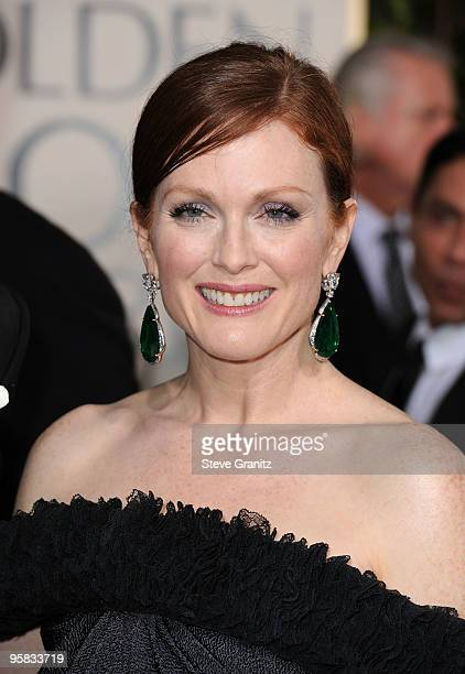 Actress Julianne Moore arrives at the 67th Annual Golden Globe Awards at The Beverly Hilton Hotel on January 17 2010 in Beverly Hills California