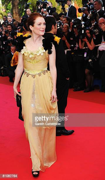 Actress Julianne Moore arrives at the Blindness premiere at the Palais des Festivals during the 61st International Cannes Film Festival on May 14,...