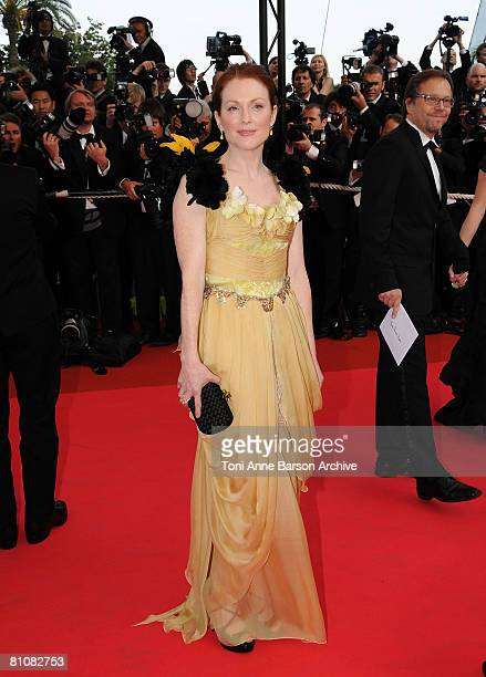Actress Julianne Moore arrives at the 'Blindness' premiere during the 61st Cannes International Film Festival on May 14 2008 in Cannes France