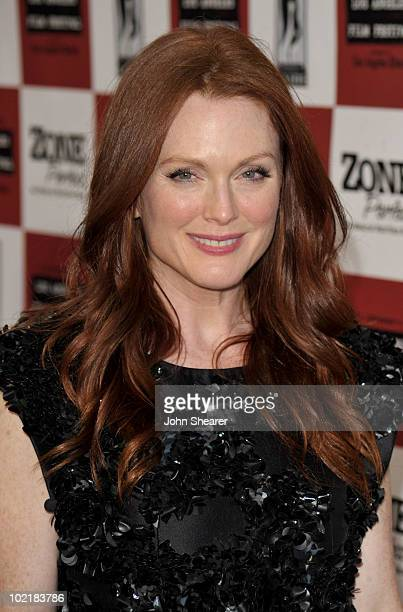 """Actress Julianne Moore arrives at """"The Kids Are All Right"""" premiere during the 2010 Los Angeles Film Festival held at Regal Cinemas at LA Live..."""