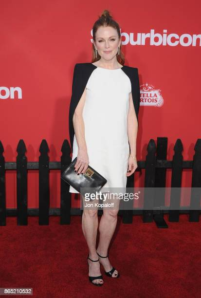 Actress Julianne Moore arrives at the Los Angeles Premiere 'Suburbicon' at Regency Village Theatre on October 22 2017 in Westwood California