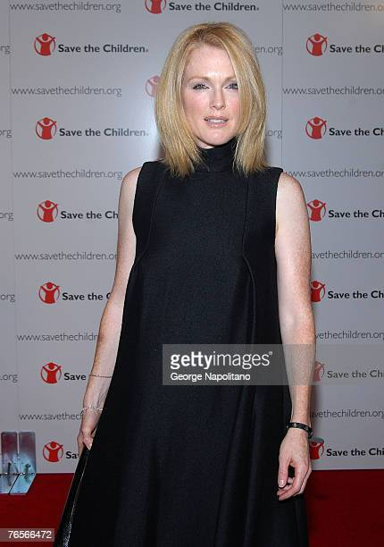 """Actress Julianne Moore arrives at the """"Save The Children"""" 75th Anniversary Benefit Gala on September 6, 2007 at Avery Fisher Hall in New York City."""