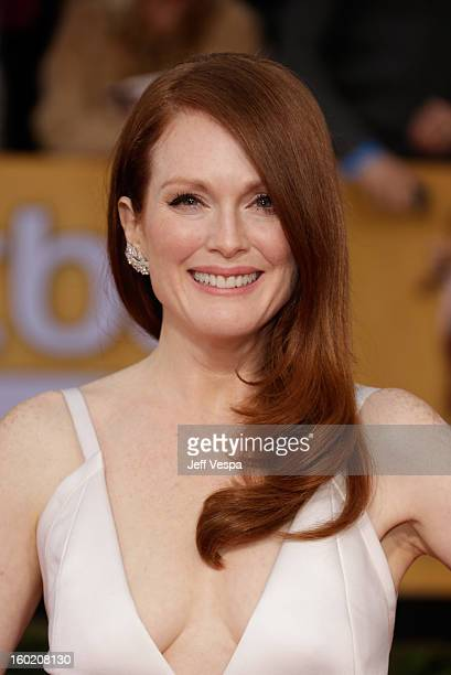 Actress Julianne Moore arrives at the19th Annual Screen Actors Guild Awards held at The Shrine Auditorium on January 27, 2013 in Los Angeles,...