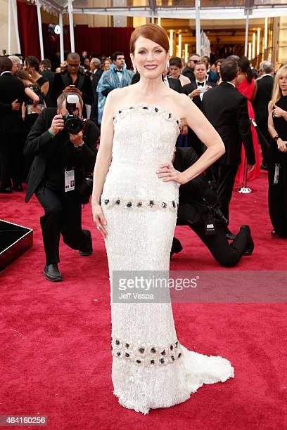 Actress Julianne Moore arrives in Chopard to the 87th Annual Academy Awards at Hollywood Highland Center on February 22 2015 in Hollywood California