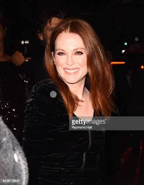 Actress Julianne Moore arrives to the Tom Ford Spring/Summer 2018 Runway Show at Park Avenue Armoryon September 6 2017 in New York City